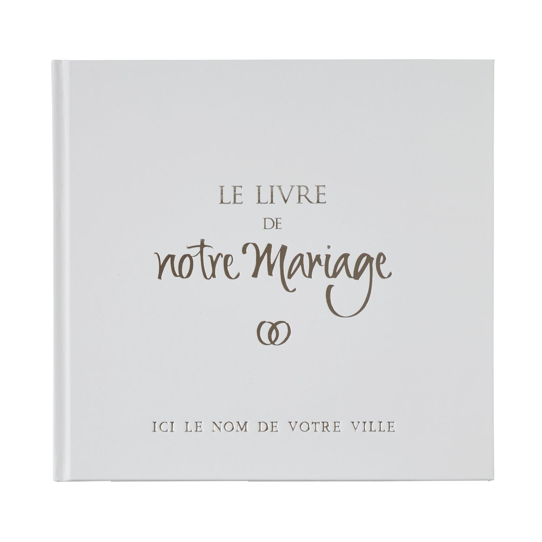 Le Livre De Notre Mariage Couverture Blanche Personnalisable