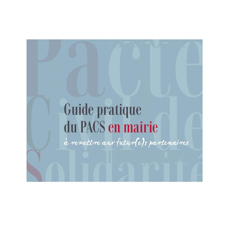 Guide Pratique Du Pacs Pour Les Mairies Et Collectivites