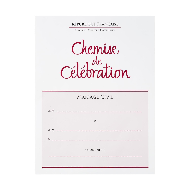 Chemise de célébration de mariage