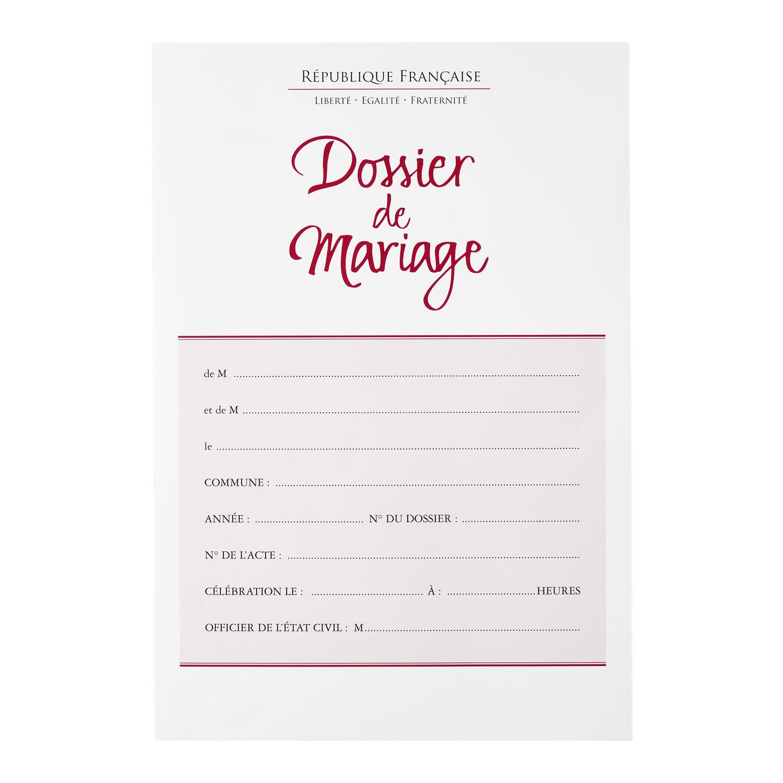 Dossier de mariage