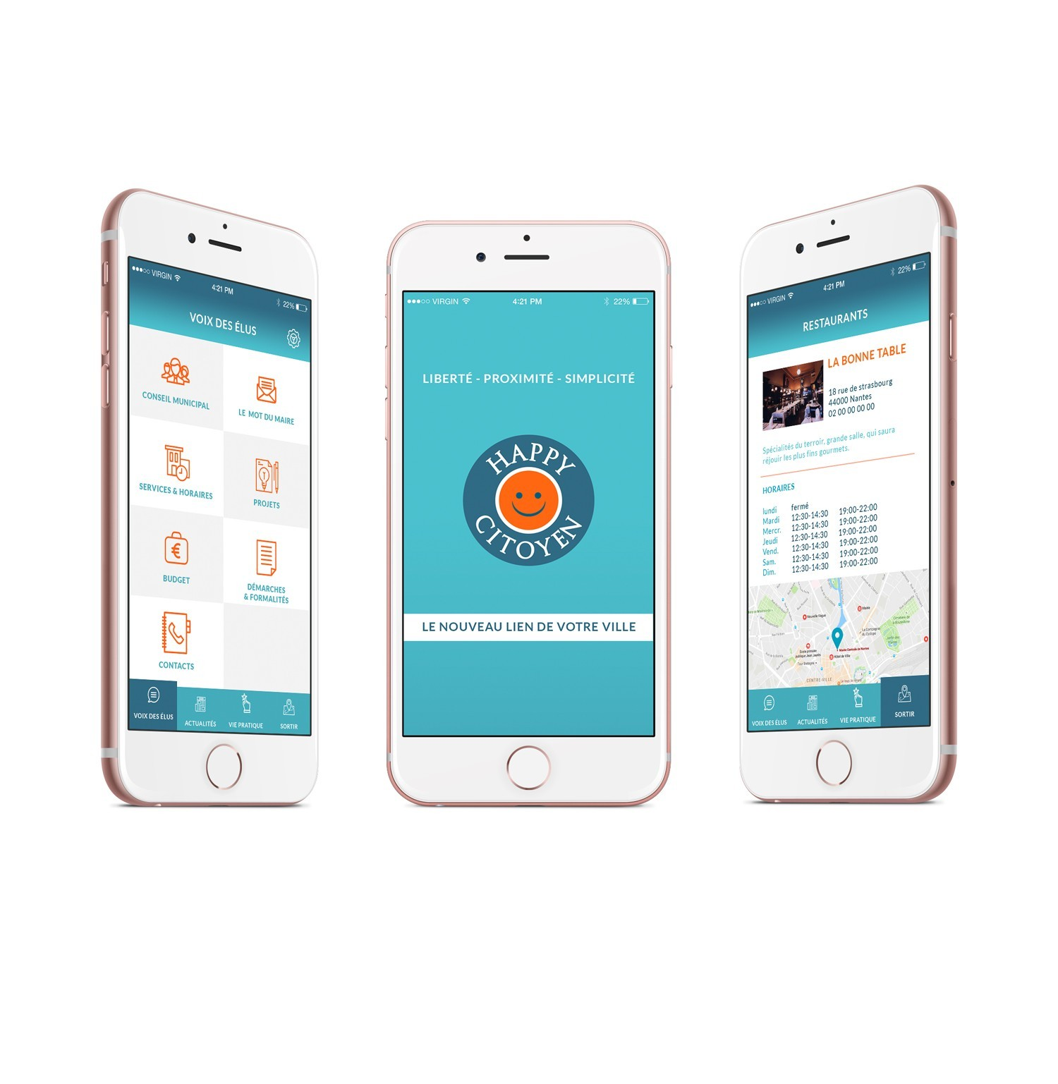 Happy citoyen - Appli mobile pour mairie