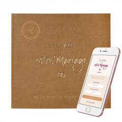 """""""Le Livre de Notre Mariage"""" avec jaquette simili-cuir, un cadeau idéal pour vos cérémonies."""
