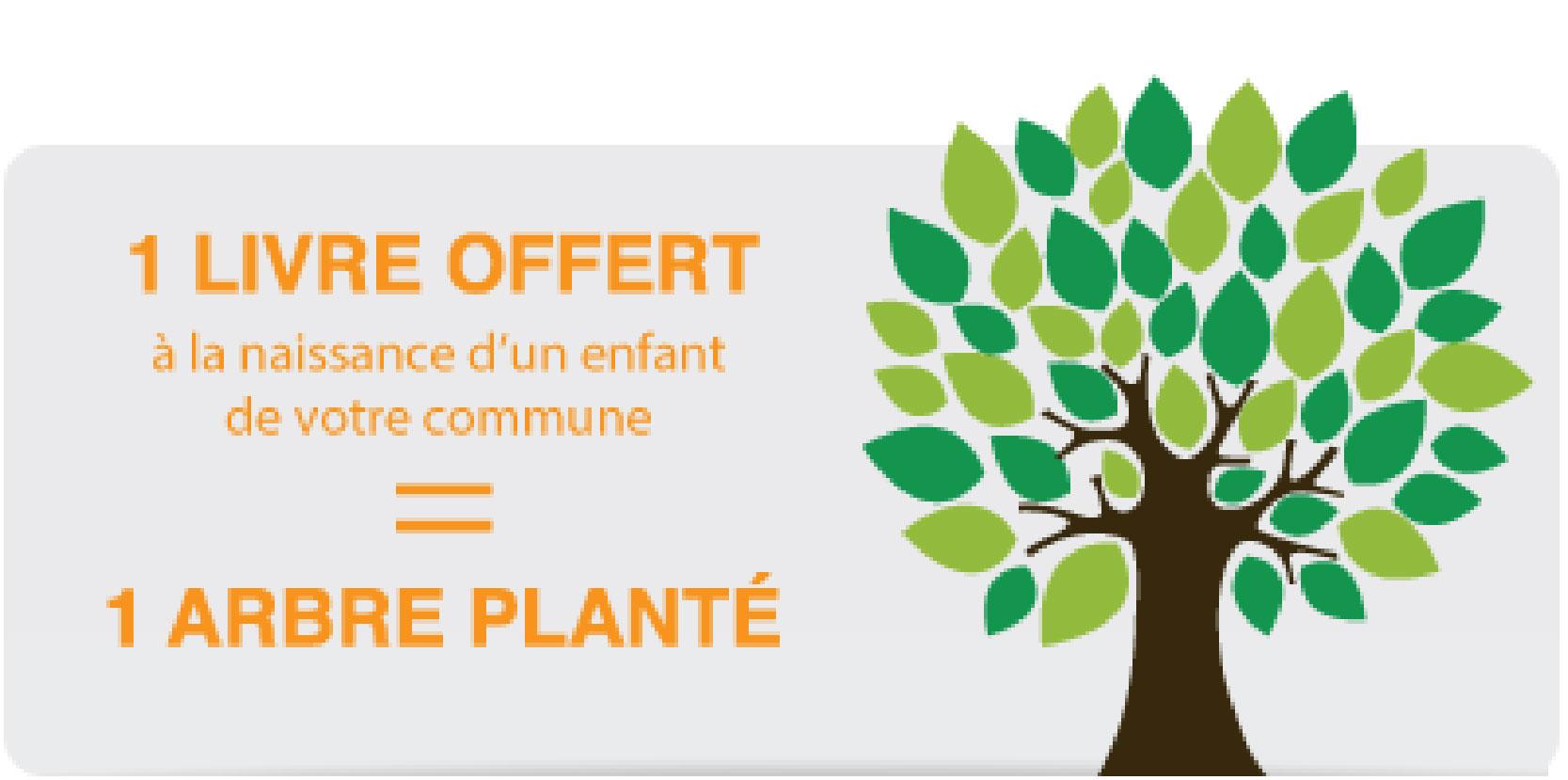 1 livre offert = 1 arbre planté