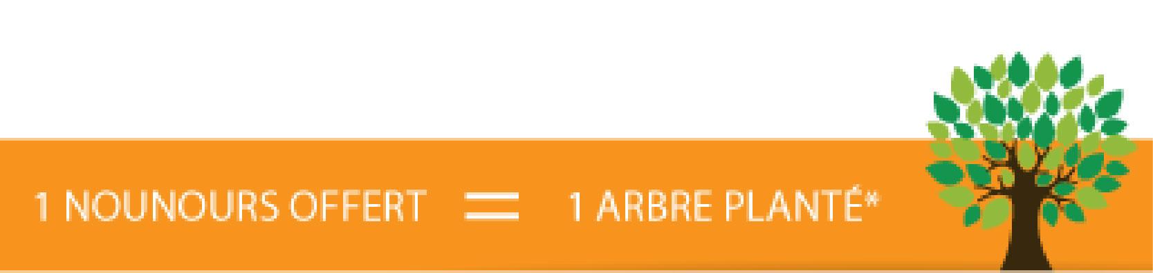 1 nounours offert = 1 arbre planté